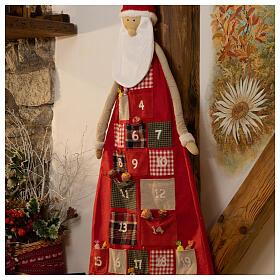 Kalendarz adwentowy h 150 cm Święty Mikołaj s2