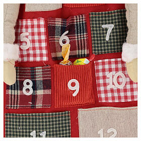 Kalendarz adwentowy h 150 cm Święty Mikołaj s3
