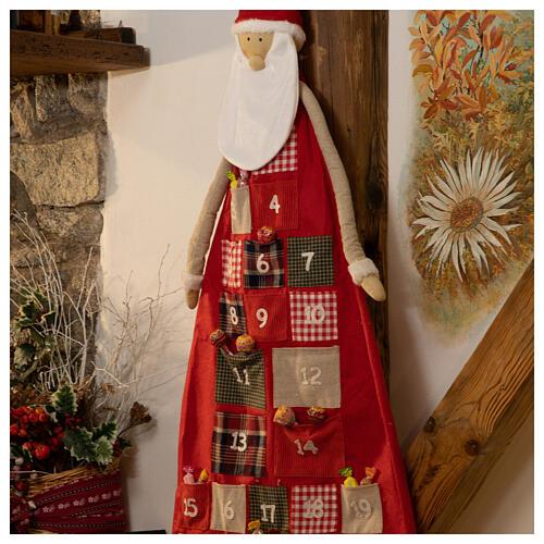 Kalendarz adwentowy h 150 cm Święty Mikołaj 2