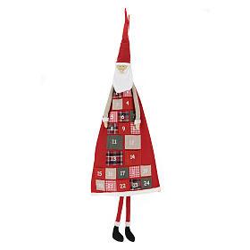 Advento: Calendário de Natal altura 150 cm Pai Natal
