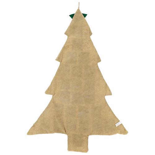 Calendario Adviento de arpillera árbol de Navidad h. 120 cm 3