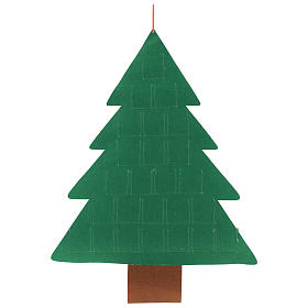 Calendario Adviento 25 bolsillos árbol de Navidad 110 cm s3