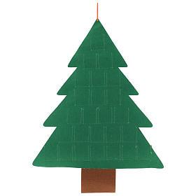 Calendario Avvento 25 tasche albero di Natale 110 cm s3