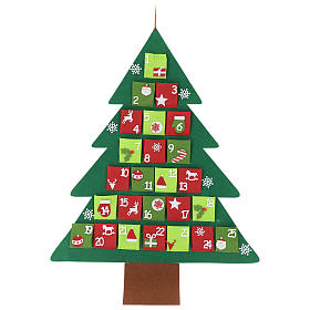 Advent Calendar 25 pockets Christmas tree 110 cm s1