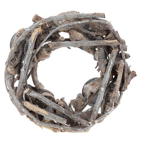 Corona de Adviento de madera diám. 30 cm 3