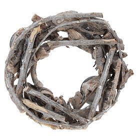 Corona dell'Avvento in legno diam. 30 cm  s3