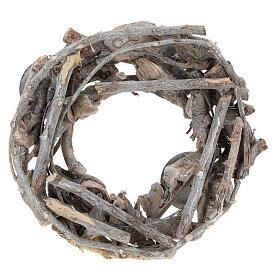 Advent wreath in wood diam. 30 cm s3