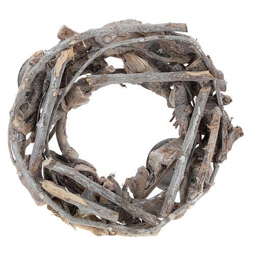 Advent wreath in wood diam. 30 cm 3