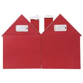Kalendarz adwentowy z drewna w kształcie domku podświetlanego 30x40x5 cm s9