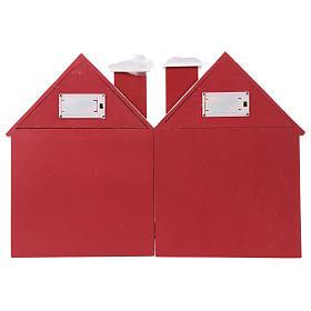 Calendário do Advento madeira casinhas iluminada 30x40x5 cm s7