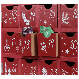 Advent Calendar in wood with boxes with lights 30x40x5 cm s2