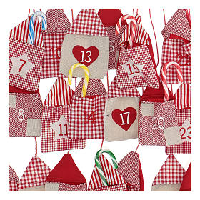 Calendario de Adviento con sacos 55x50 cm s2