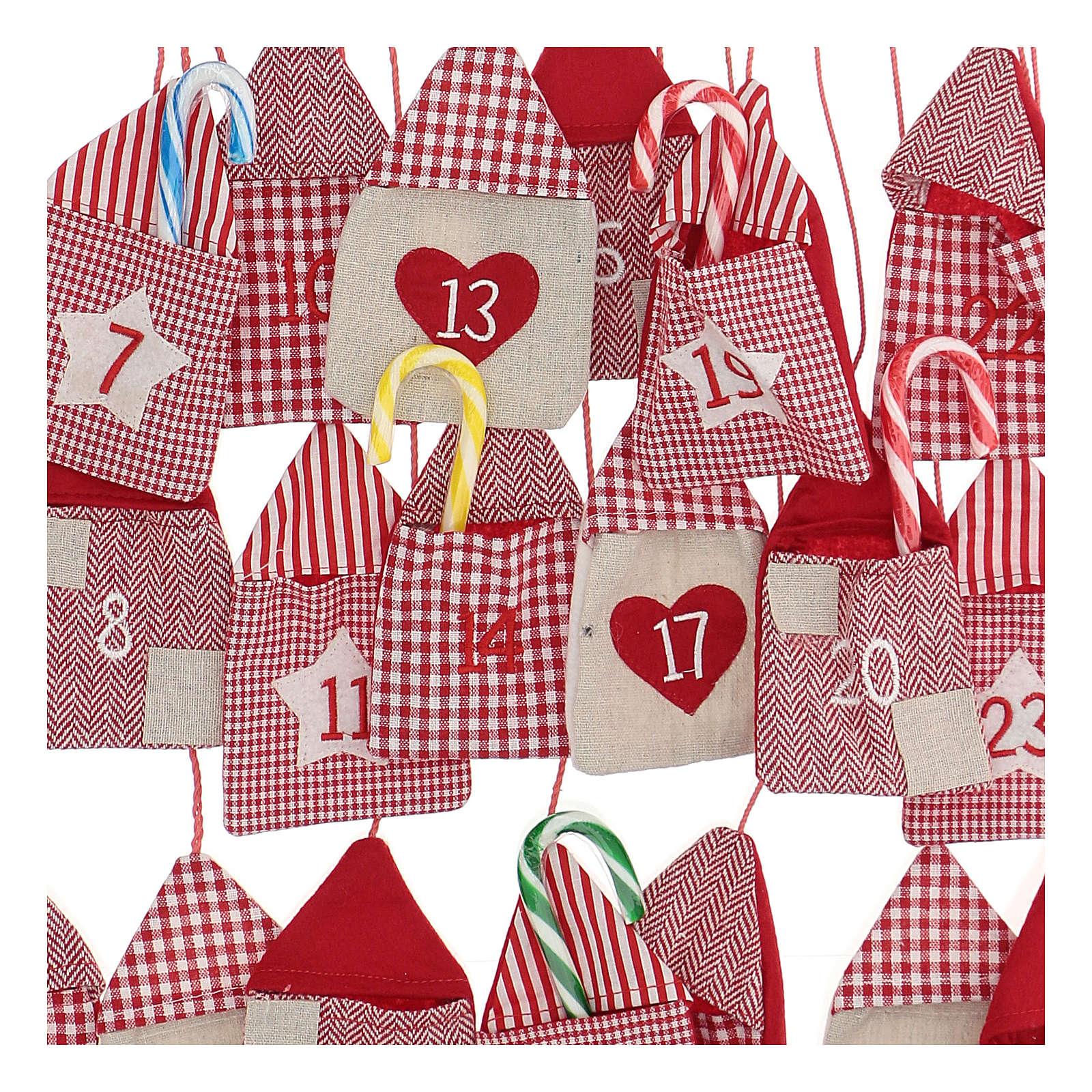 Calendario dell'Avvento a sacchetti 55x50 cm 3