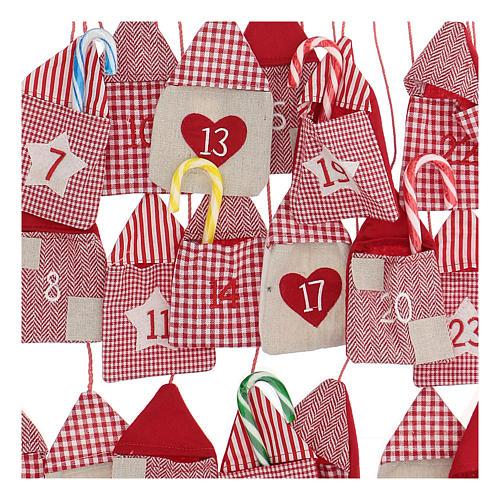 Calendario dell'Avvento a sacchetti 55x50 cm 2
