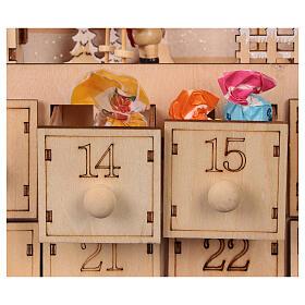Kalendarz adwentowy z drewna z szufladkami 50x30x5 cm s2