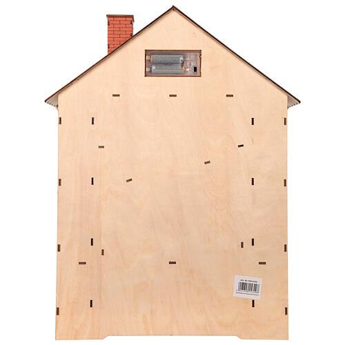 Kalendarz adwentowy z drewna z szufladkami 50x30x5 cm 6