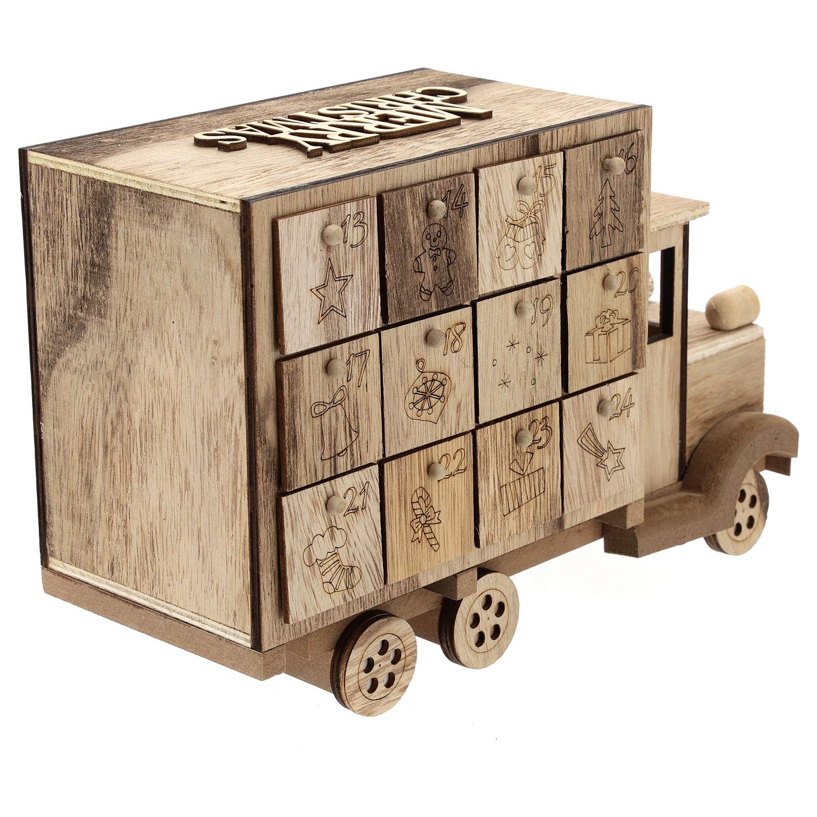 Calendario de Adviento en forma de furgón 20x30x10 cm 3