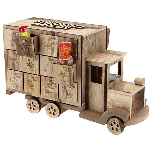 Calendario de Adviento en forma de furgón 20x30x10 cm 5