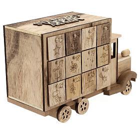 Kalendarz adwentowy w kształcie ciężarówki 20x30x10 cm s6