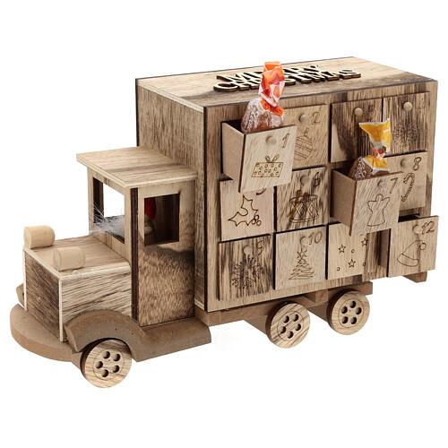 Kalendarz adwentowy w kształcie ciężarówki 20x30x10 cm 4