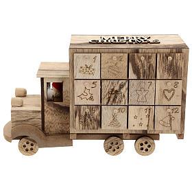 Calendário do Advento madeira carrinha 20x30x10 cm s1