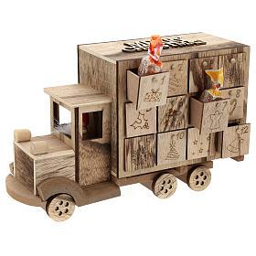 Calendário do Advento madeira carrinha 20x30x10 cm s4