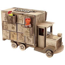 Calendário do Advento madeira carrinha 20x30x10 cm s5