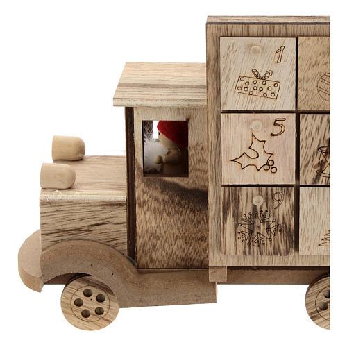 Calendário do Advento madeira carrinha 20x30x10 cm 2