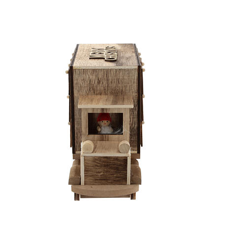 Calendário do Advento madeira carrinha 20x30x10 cm 3