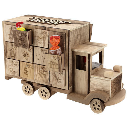 Calendário do Advento madeira carrinha 20x30x10 cm 5