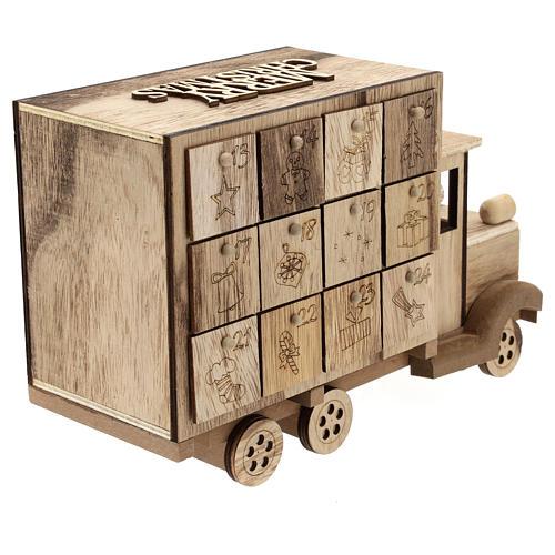Calendário do Advento madeira carrinha 20x30x10 cm 6