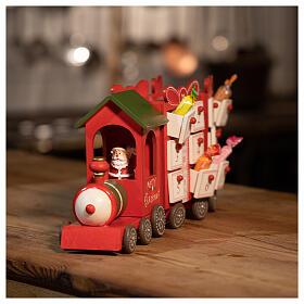 Advent calendar, train 15x40x10 cm s4