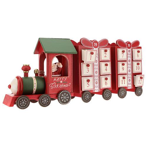 Advent calendar, train 15x40x10 cm 5