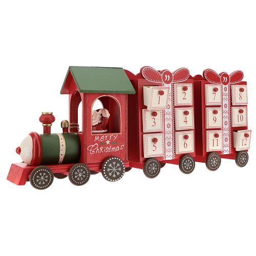 Calendario de Adviento en forma de tren 15x40x10 cm 4