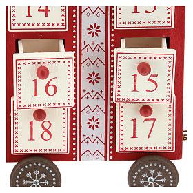 Calendario dell'avvento a forma di trenino 15x40x10 cm s2