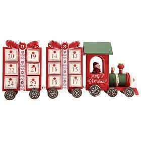 Calendario dell'avvento a forma di trenino 15x40x10 cm s5