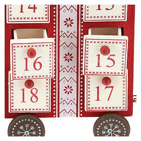 Kalendarz adwentowy w kształcie pociągu 15x40x10 cm s2