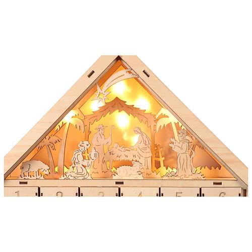 Calendario 40x30x10 cm escena natividad con luces 4