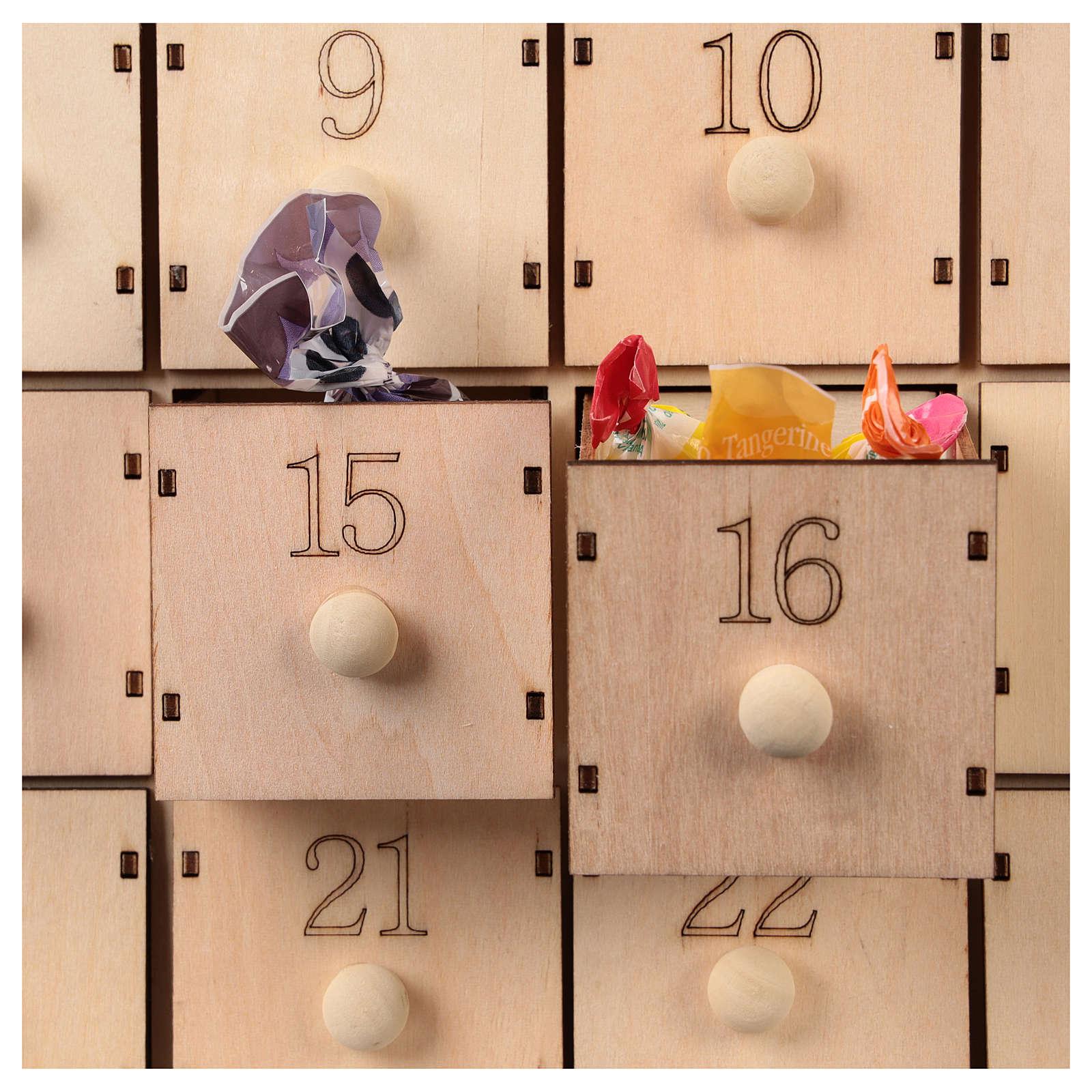 Calendario 40x30x10 cm scena natività con luci 3