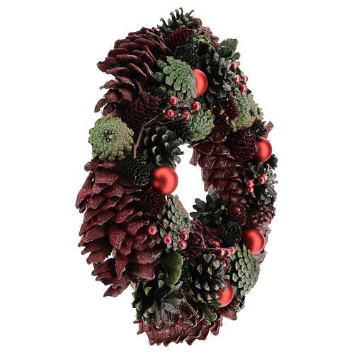 Ghirlanda con pigne colorate 30 cm 4