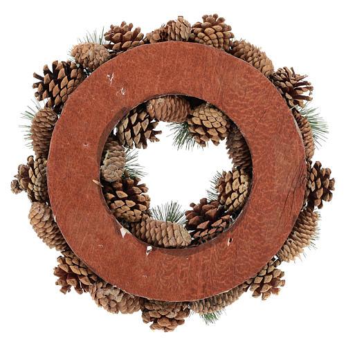 Corona con pigne e rami di pino diam.30 cm 5