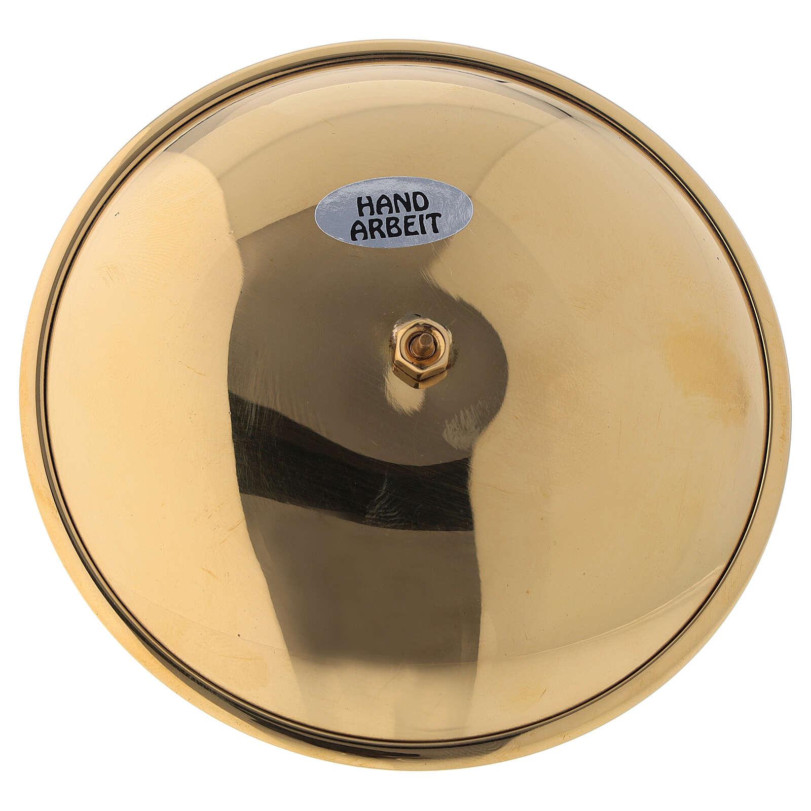 Portavela adviento punta latón dorado lúcido diám 10 cm 3