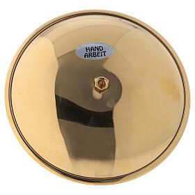 Portavela adviento punta latón dorado lúcido diám 10 cm s3