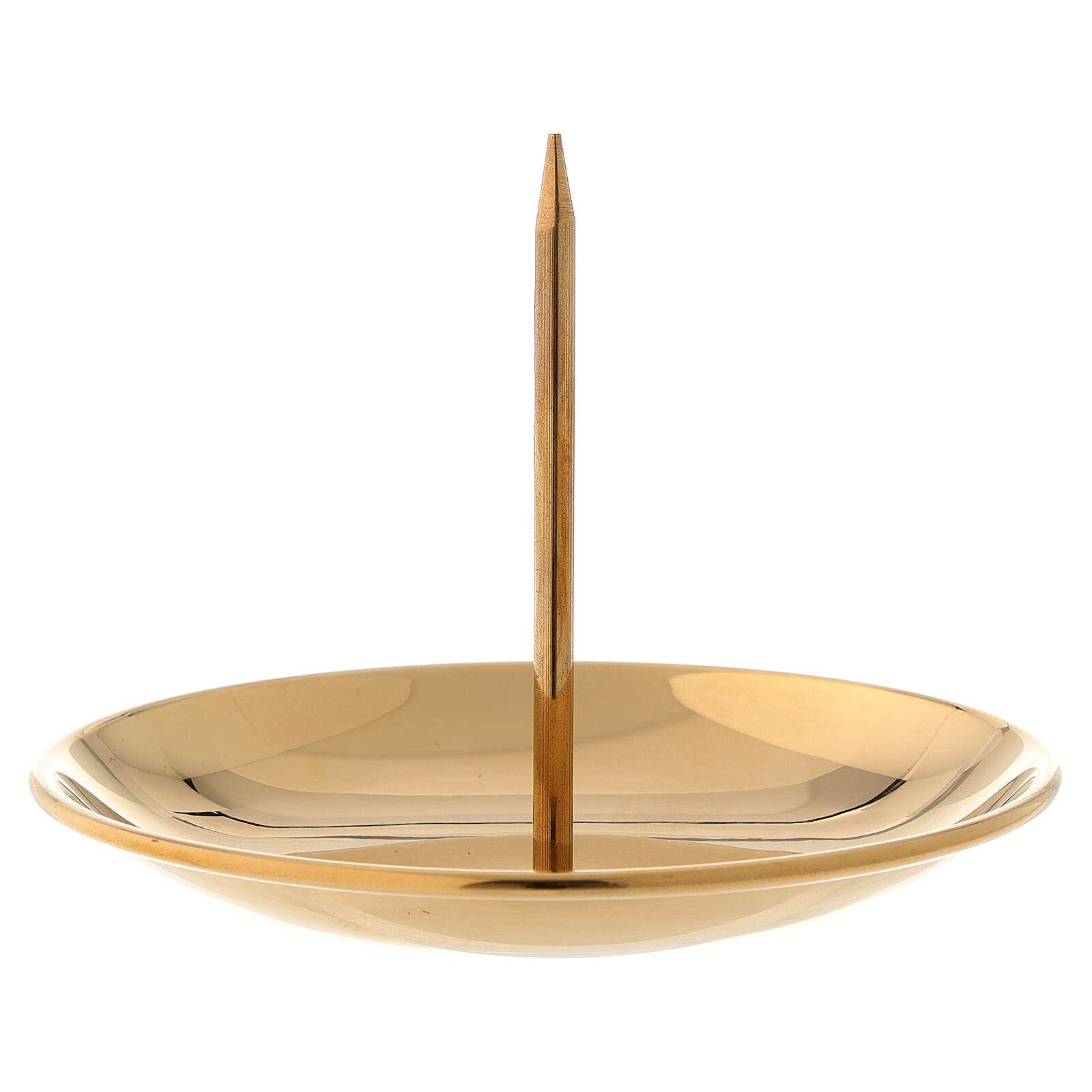 Bougeoir Avent pique laiton doré brillant diam. 10 cm 3
