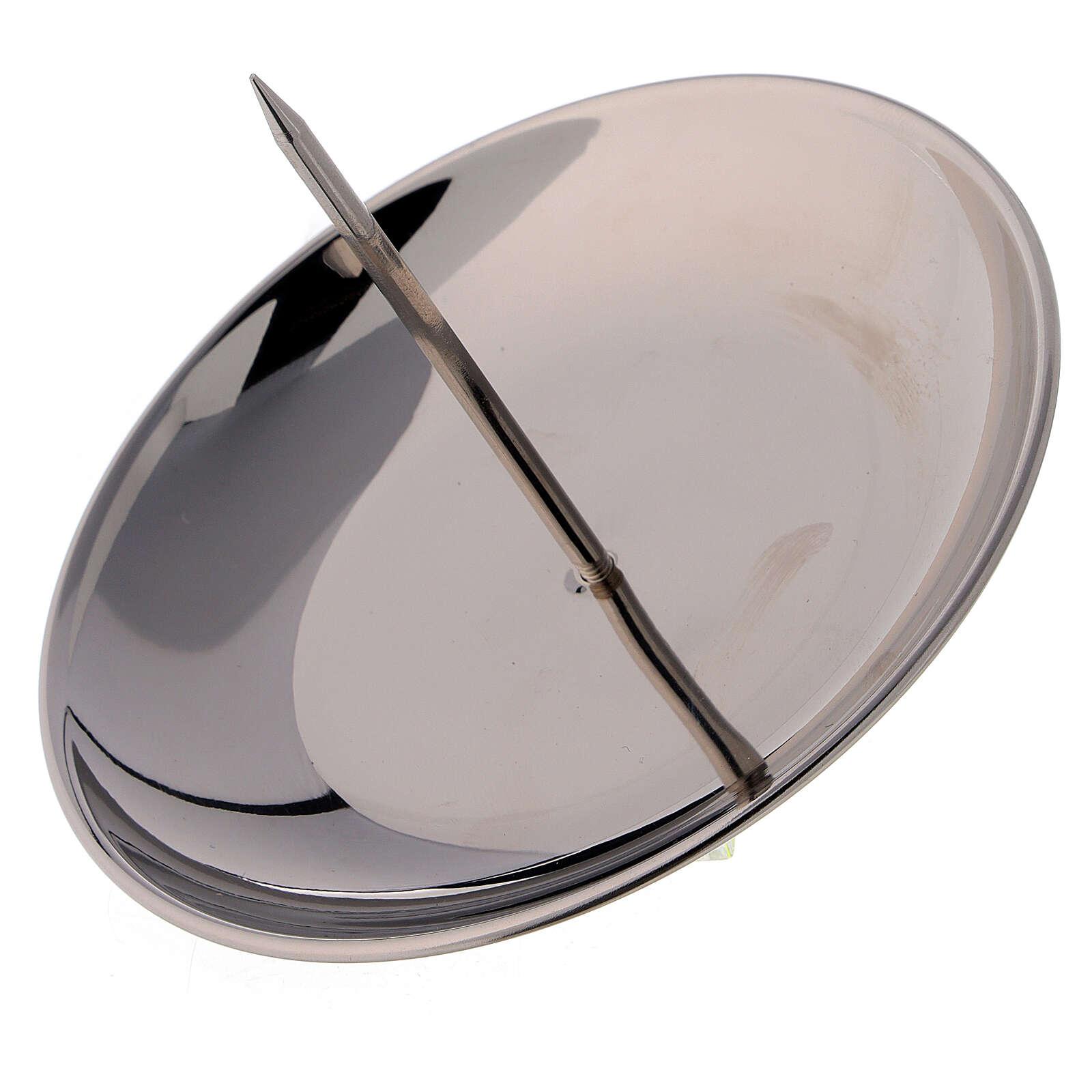 Punzone ottone nichelato lucido 12 cm avvento 3
