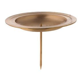 Punta latón satinado doble círculo corona Adviento 13 cm s1