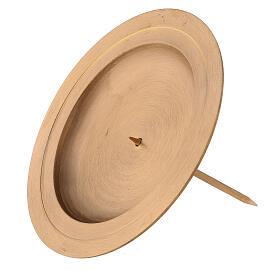 Punta latón satinado doble círculo corona Adviento 13 cm s3