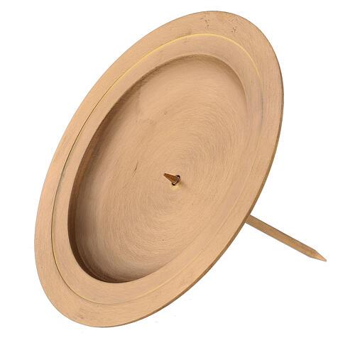 Punta latón satinado doble círculo corona Adviento 13 cm 3