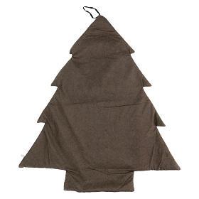 Calendrier Avent arbre stylisé gris or h 80 cm s3
