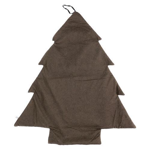 Calendrier Avent arbre stylisé gris or h 80 cm 3